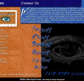 Blue Eyed Events websites