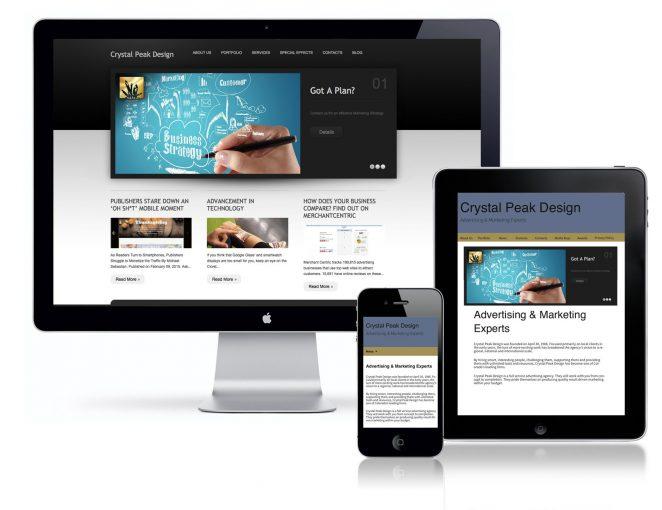 Crystal Peak Design Website