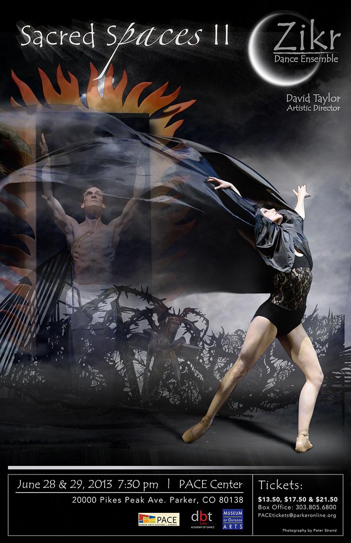 Sacred Spaces II Zikr Dance Ensemble Spring 2013 Concert Poster And Postcard Denver Design Photography Brochure